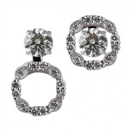 Diamond Convertible Earring Jackets